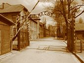 picture of hitler  - Auschwitz Poland - JPG