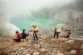 Sulfur At Kawah Ijen