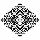 Damask  Pattern. Orient Background