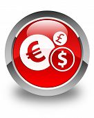 Finances Icon Glossy Red Round Button