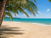 Tropical beach of Lamai in Koh Samui island in Thailand