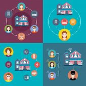 Set Elements Of Infographics Smart Home And Security System