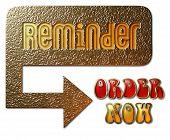Reminder - Order Now