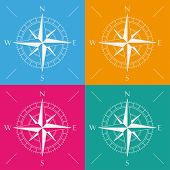 4 Colored Compass