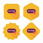 Shopping Buy Now Flat Icon With Long Shadow,eps10