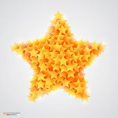 Abstract bright and beautiful yellow star