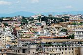 stock photo of emanuele  - Rome aerial view from Vittorio Emanuele monument - JPG