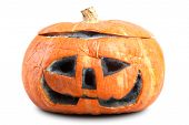 Mouldy Halloween Pumpkin. Isolated