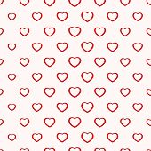Seamless simple minimalistic heart background