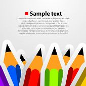 Colorful pencil background.