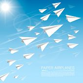 Flying paper airplanes