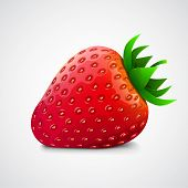picture of  realistic  - Fresh realistic strawberry - JPG