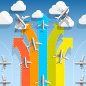 Aircraft flights infographics