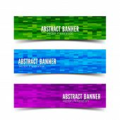 Three abstract vector banner