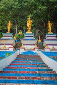 Start Of Stairs To The Top Of Tiger Cave Temple. 1237 Step To Top Mountain. Krabi. Thailand