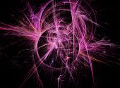 Abstract pink Fractal Texture. Visualization Of Complex Equations.