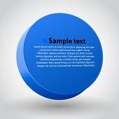 Blue three dimensions sircle.