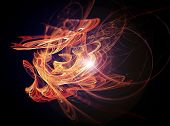 Abstract organic Fractal Texture in warm colors. Visualization Of Complex Equations.