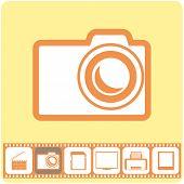 Photo Services, Vector Illustration.
