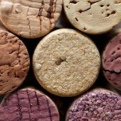 Colorful Wine Corks. Macro View