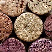 Colorful Wine Corks. Macro View