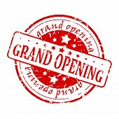 Round Red Stamp - Grand Opening
