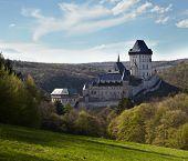 Royal castle Karlstejn near Prague in Czech Republic