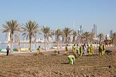 Workers At The Corniche In Kuwait