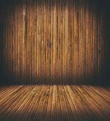 grunge wooden interior room.