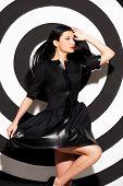 Beauty In Black Dress.