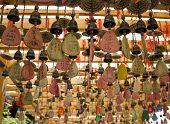 Amulets in Taoist temples.