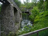 pic of water-mill  - water fall outside a mill in sweden - JPG
