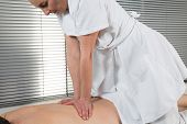 Portrait Of Man Receiving Massage Treatment