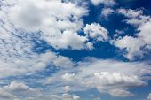White clouds in the blue sky, Beautiful sky.