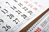 Wall Calendars Laid On The Table