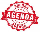 Agenda Red Vintage Isolated Seal