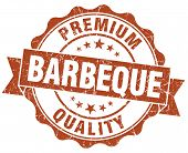Barbeque Brown Vintage Isolated Seal