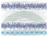 Shaken lines background