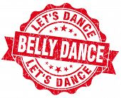 Belly Dance Red Vintage Isolated Seal