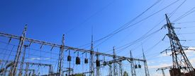 pic of power lines  - Electrical power station - JPG