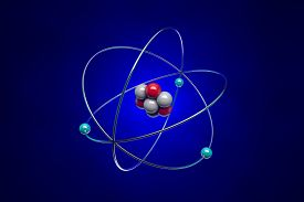 stock photo of neutron  - An atom consists of a nucleus  - JPG