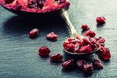 foto of pomegranate  - Pieces and grains of ripe pomegranate - JPG