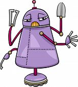 foto of fiction  - Cartoon Illustration of Funny Robot Science Fiction Character - JPG