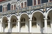 foto of vault  - Colonnade of old Stables Courtyard  - JPG