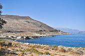 image of greek-island  - Sea summer landscape coast of the Greek island - JPG