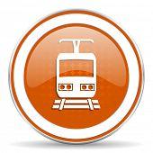 picture of railroad-sign  - train orange icon public transport sign  - JPG