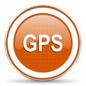 pic of gps  - gps orange icon   - JPG