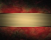pic of nameplates  - Abstract red background with nameplate - JPG