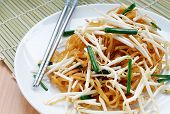 picture of thai food  - Thai Food Named Korat Noodle or Mii Korat look like pad - JPG