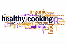 picture of food pyramid  - Healthy cooking and slow food diet concepts word cloud illustration - JPG
